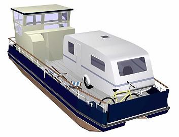 zum ersten mal wurde ein schiff entwickelt das als mobiler stellplatz auf dem wasser einem. Black Bedroom Furniture Sets. Home Design Ideas